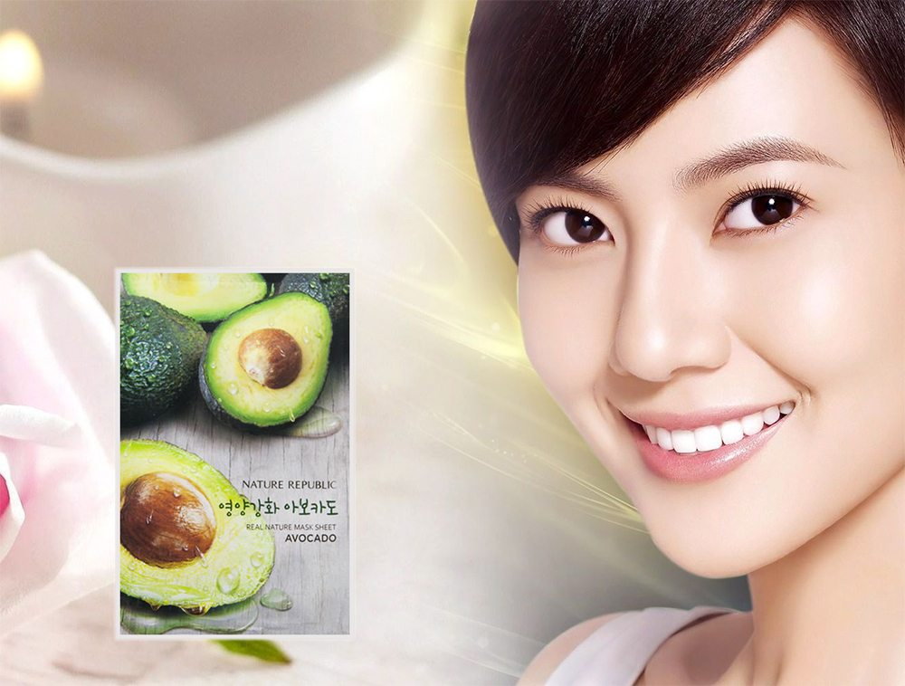 Mặt Nạ Bơ Nature Republic Real Nature Avocado Mask Sheet 1
