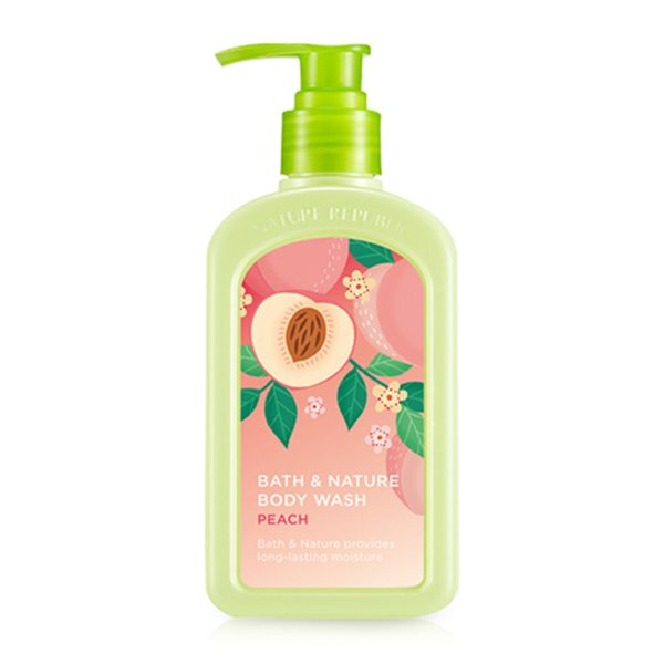 Sữa Tắm Dưỡng Ẩm Nature Republic Bath & Nature Peach Body Wash 1