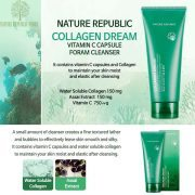 Sữa Rửa Mặt Tạo Bọt Nature Republic Collagen Dream Vitamin C Capsule Foam Cleanser