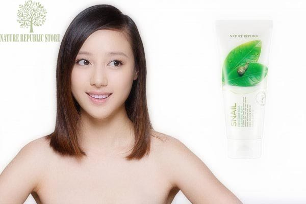 Sữa Rửa Mặt Ốc Sên Nature Republic Fresh Herb Snail Cleansing Foam - Nature Repulic Store