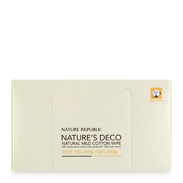 NATURES DECO NATURAL MILD COTTON WIPE