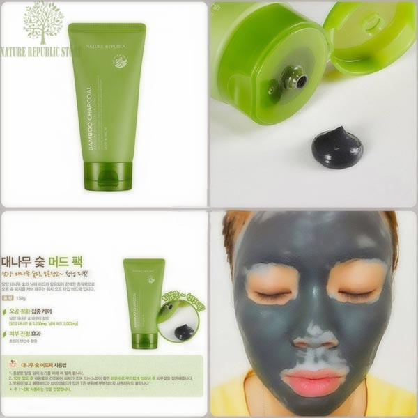 Картинки по запросу nature republic bamboo charcoal mud pack