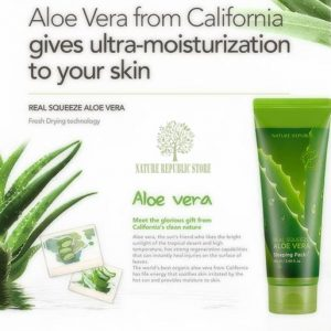 Mặt Nạ Ngủ Nature Republic Real Squeeze Aloe Vera Sleeping Pack