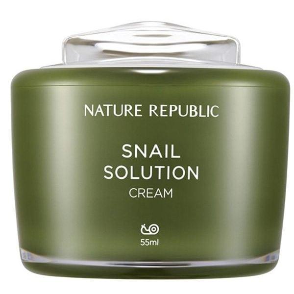 Kem dưỡng da chiết xuất ốc sên Nature Republic Snail Solution Cream 1