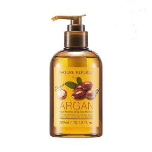 Dầu gội phục hồi hư tổn Nature Republic Argan Essential Deep Care Shampoo 1