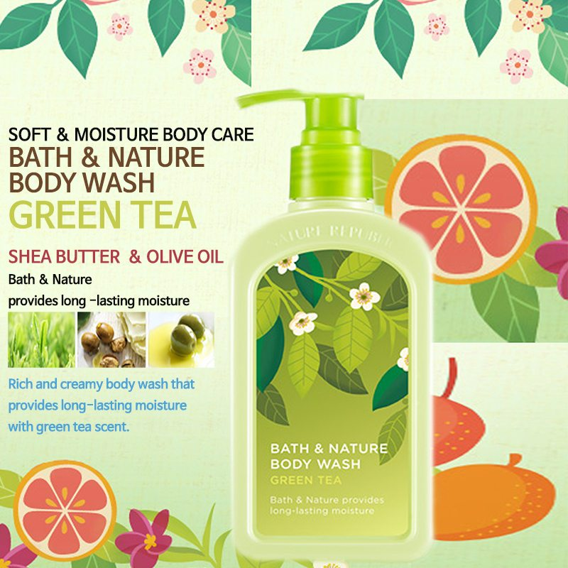 Sữa tắm trà xanh Nature Republic Bath & Nature Green Tea Body Wash 1