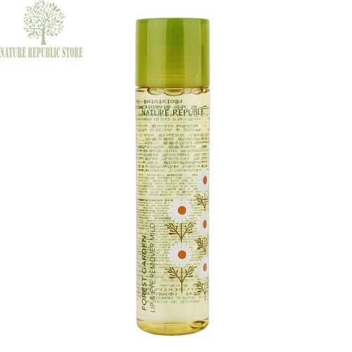 Dung Dịch Tẩy Trang Mắt Môi Forest Garden Lip & Eye Remover Mild - Nature Republic Store