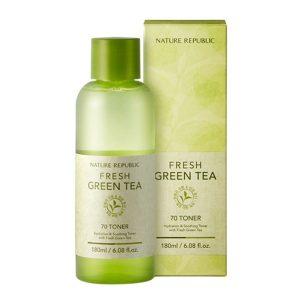 Nước hoa hồng chiết xuất từ trà xanh Fresh Green Tea 70 Toner 1