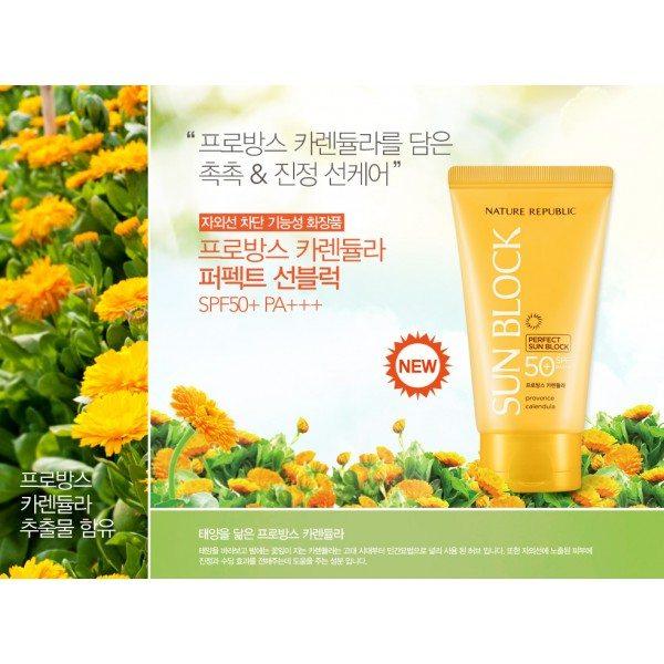 Kem chống nắng Nature Republic Provence Calendula Perfect SPF50 PA+++ 1