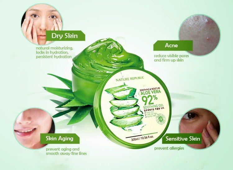 Gel Lô Hội Nature Republic Soothing & Moisture Aloe Vera 92% Soothing Gel 1