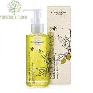 Dầu Tẩy Trang Chứa Dầu Oliu Forest Garden Olive Cleansing Oil - Nature Republic Store