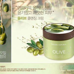 Kem Tẩy Trang Olive Nature Republic Store Hàng Chính Hãng.