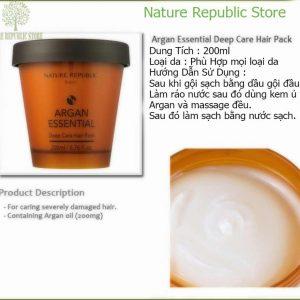 Kem Ủ Tóc Nature Republic Argan Essential Thành Phần và Công Dụng