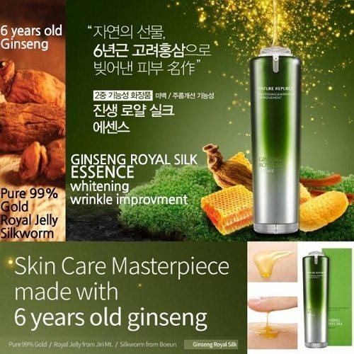 Tinh Chất Dưỡng Da Chiết Xuất Từ Vàng Và Nhân Sâm Ginseng Royal Silk Essence 1