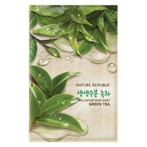 mat-na-chiet-xuat-tra-xanh-real-nature-green-tea-mask-sheet-1