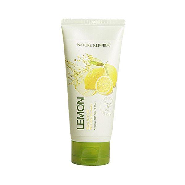 Tẩy tế bào chết mặt Real Nature Lemon Peeling Gel Wash 1