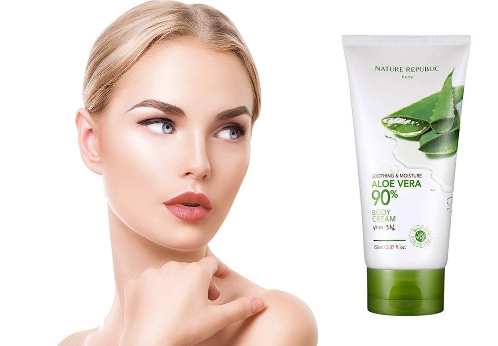 Kem Dưỡng Ẩm Toàn Thân Nature Repuclic Soothing & Moisture Aloe Vera 90 Body Cream 1