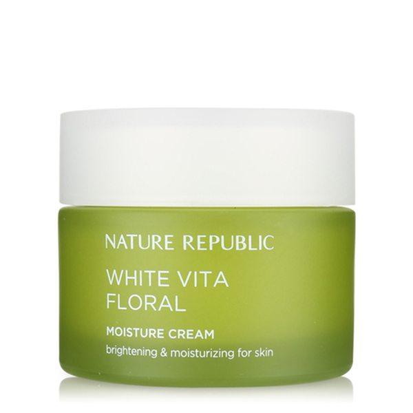 Kem dưỡng ẩm trắng da Nature Republic White Vita Floral Moisture Cream 1