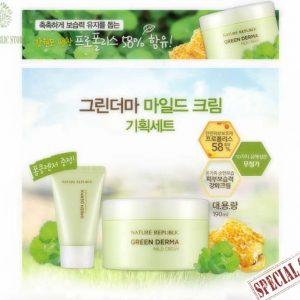 Bộ Sản Phẩm Dưỡng Da Nature Repuclic Green Derma Mild Cream