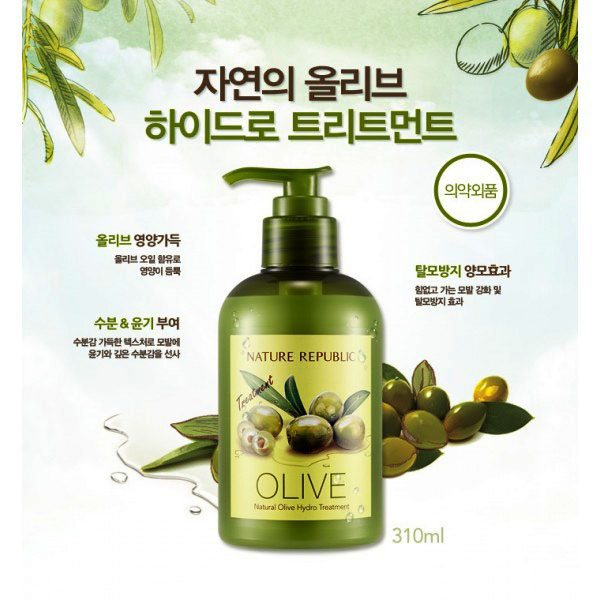 Kem Ủ Tóc Natural Republic Olive Hydro Treatment - Nature Republic Store