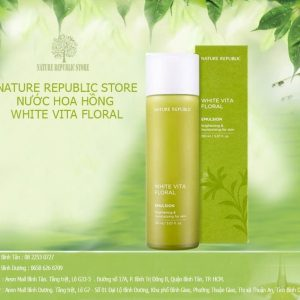 Nước Hoa Hồng Nature Republic White Vita Floral Toner Hàng Chính Hãng