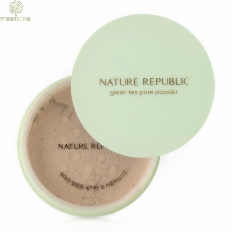 Phấn Phủ Nature Republic Botanical Green Tea Pore Powder Phù Hơp Với Mọi Loại Da