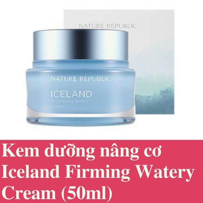 Kem dưỡng Iceland Brightening Watery Cream Nature Republic